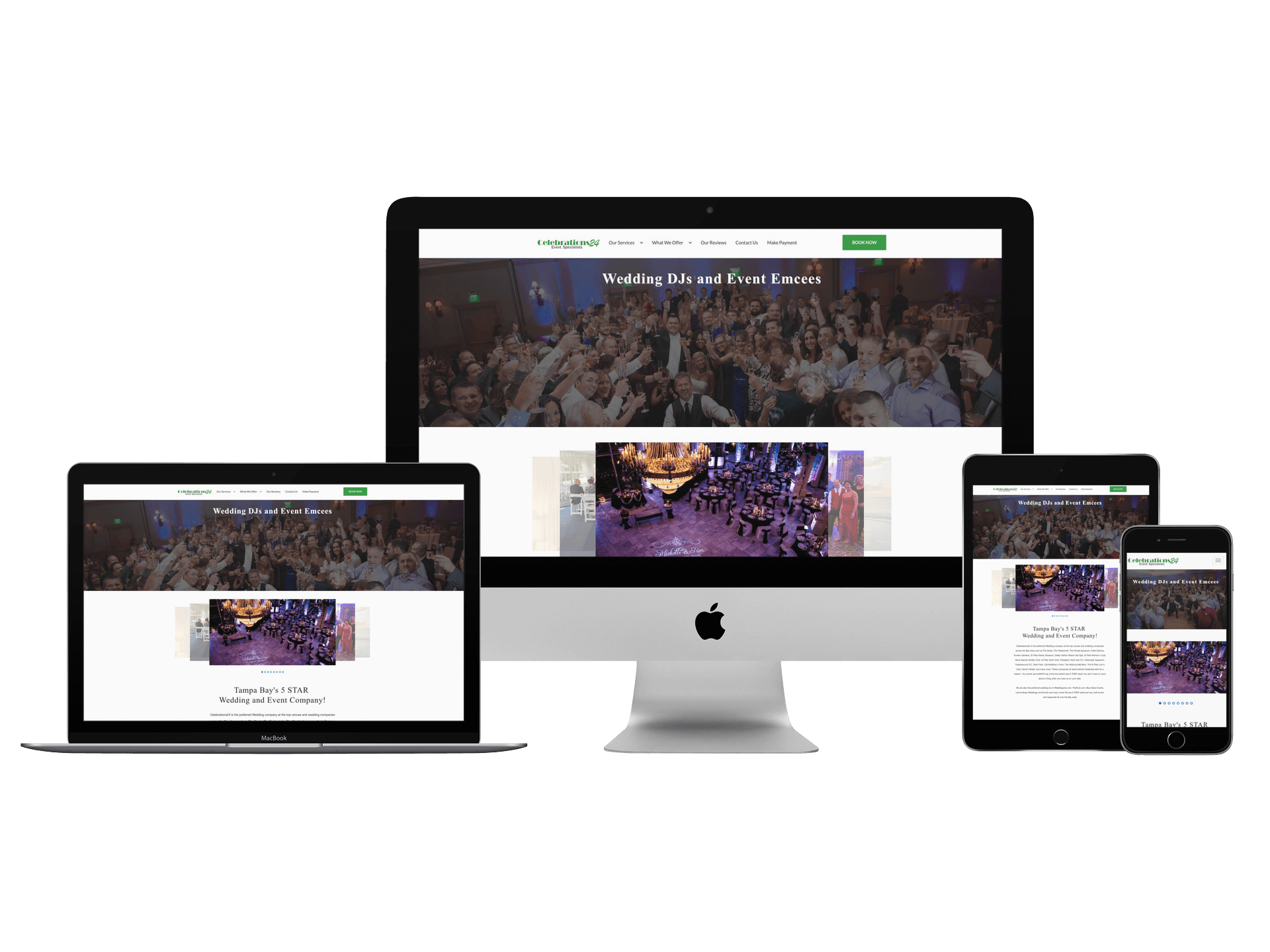 Web redesign for Celebrations24 based in Tampa FL